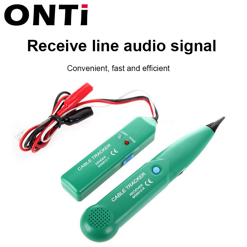 ONTi Professional LAN Network Cable Tester for UTP STP Cat5 Cat6 Telephone Phone Wire Tracker Tracer Line Finder 4