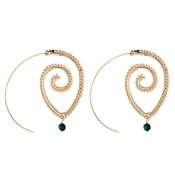 Earrings For Women Fashion Spiral Modern Heart Leaf Tree Vintage Golden Silver Glamour Trend Sexy Beach Vacation Dangler Earring 2