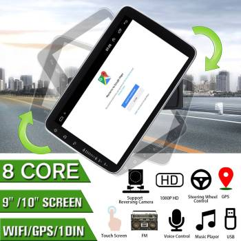9/10 Inch Android 8.0 Car Radio 8 Core Stereo Receiver GPS Stereo Wifi bluetooth RDS Audio Universal Car Multimedia Video Player image