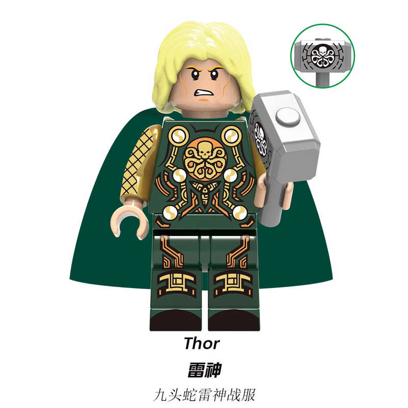 Thor Loki Odin Frigga Marvel Avengers Asgard Dio Laufeyson Gelo giants Building Blocks Giocattoli Dei Mattoni Per I Bambini regalo X0269