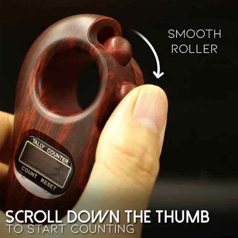 Nowy przewiń relaks zasilany z baterii dekompresyjny Mini cyfrowy licznik zabawek ręczny budda dla buddyjskich koralików Por N0K9