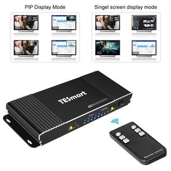 HDMI KVM Switch 4X1 Seamless w/PIP 4 Ports HDMI Switcher KVM USB2.0 4K@30Hz Switch KVM HDMI control4PCs 4Port Input 1 Port out d lin k dkvm 4k 4 port kvm