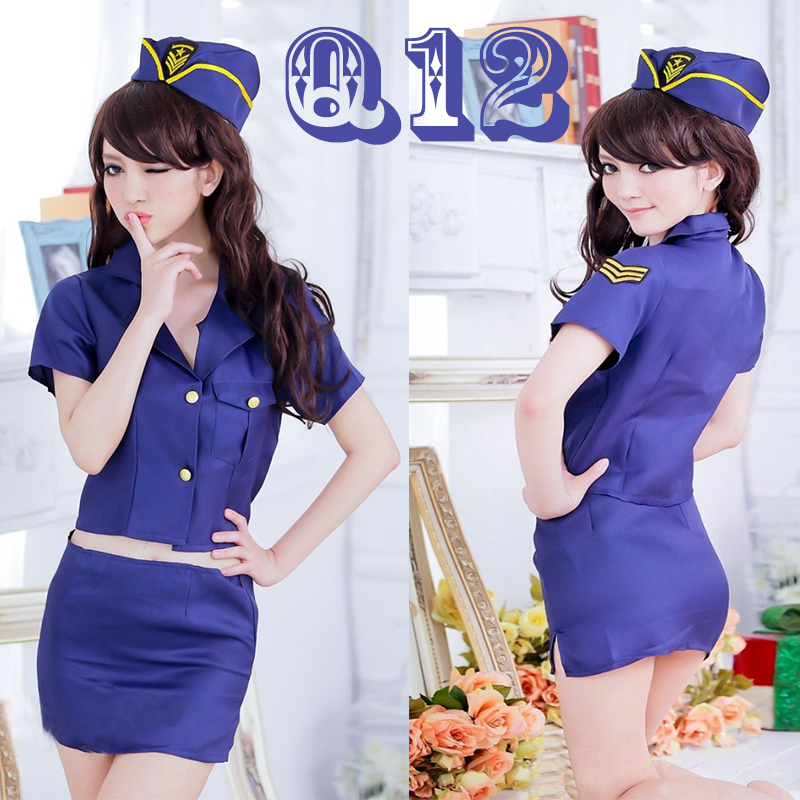 Beautiful and Sexy Flight Attendant Costume COSPLAY Suit, Let You Experience The Passion and Excitement of Air Service Q11-20 image