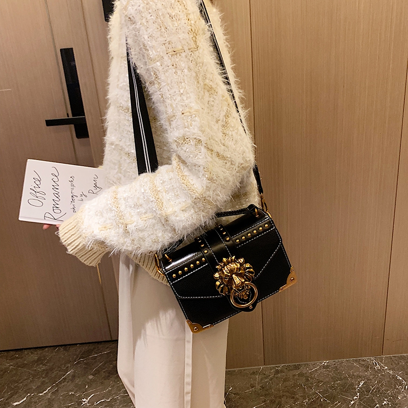 H1c2fb3d5d04e4f94aa1a5793dd4ac6e1c - Female Fashion Handbags Popular Girls Crossbody Bags Totes Woman Metal Lion Head  Shoulder Purse Mini Square Messenger Bag