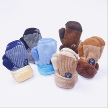 Baby Gloves Mittens Girls Winter Boys Infant Warm Rope Connection Knitting Thicken Hot
