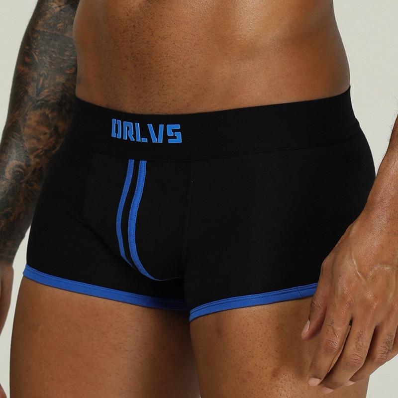 ORLVS Brand Male Underwear Sexy Gay Boxer Men Cueca Tanga Boxer Para Hombre Male Panties Boxer Shorts Men Calzoncillo Pink Hero
