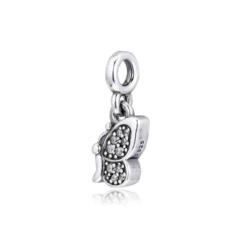DIY Passend für Pandora Charms Armbänder 100% 925 Sterling-Silber-Schmuck Unterschrift Mir Meine Schmetterling Perlen Freies Verschiffen