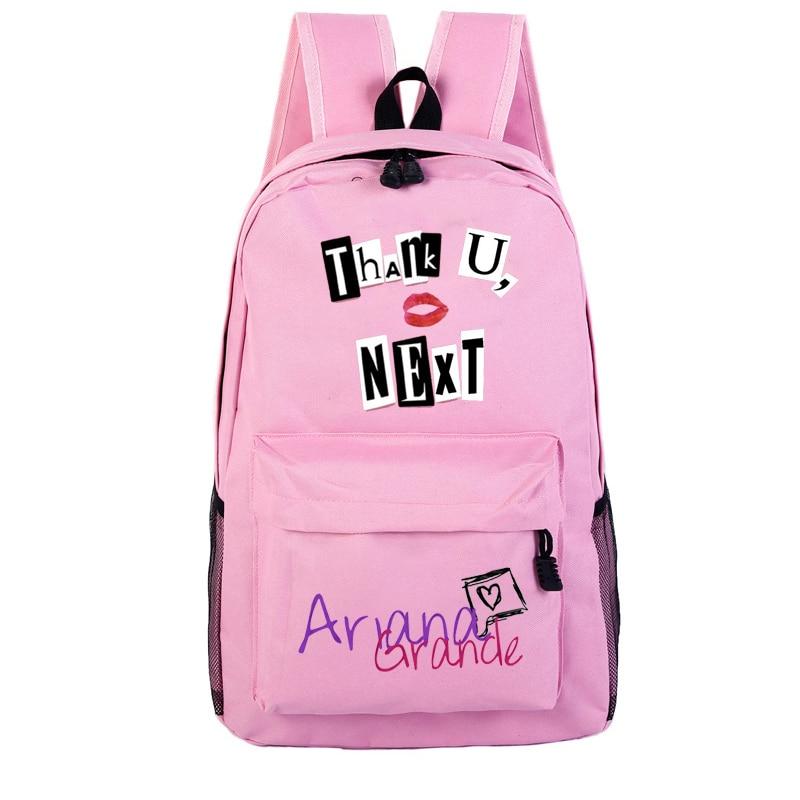 Ariana Grande Thank U Next Print Girls Shoulder Backpack Bags Mochila Feminina Teenager School Bag Women Backpacks For Travel