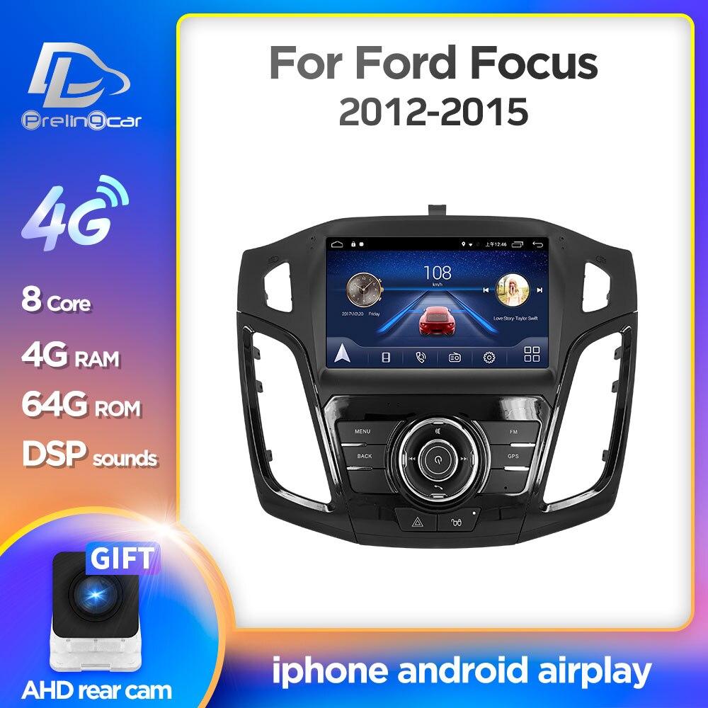 Android 10.0 système voiture IPS écran tactile stéréo pour ford focus 2012 2013 2014 2015 ans lecteur stéréo