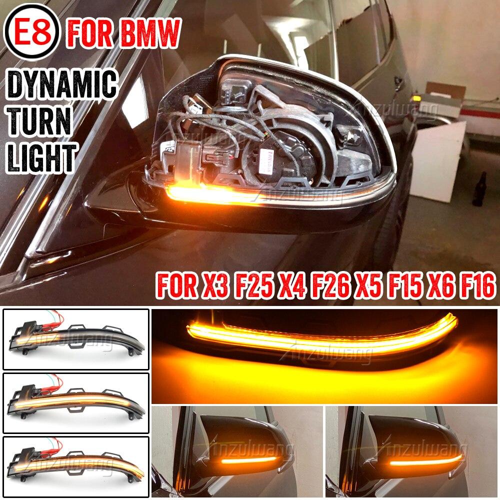 Side Mirror Turn Signal Indicator Blinker Light for BMW X3 F25 X4 F26 X5 F15 M F85 X6 F16 M F86