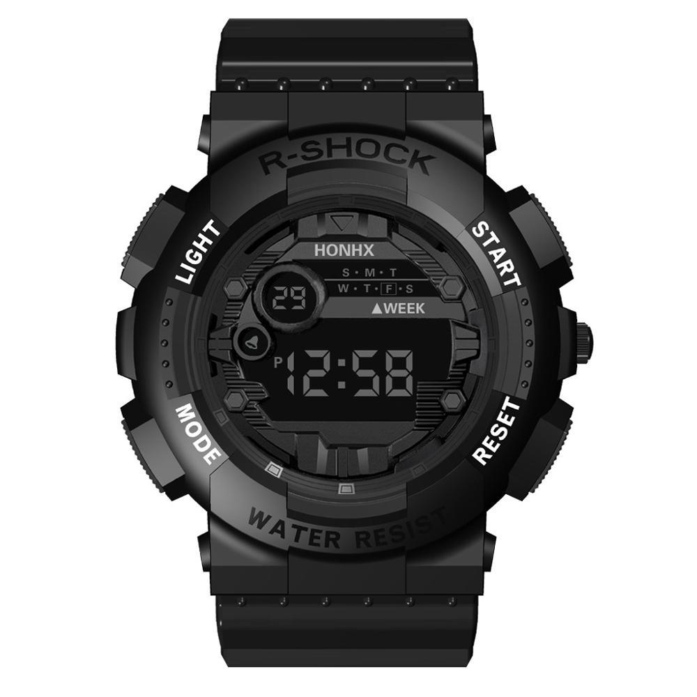 HONHX Luxury Mens Digital LED Watch Date Sport Men Outdoor Electronic Watch Digital Watch Men Water Resistant #4S26