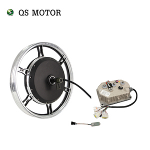 QS Motor 17*1.6 Inch 2000W 72V 70km/h Electric Hub Motor with kelly KLS7222H Programable Controller kits for Motorcycle