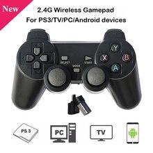 2.4G 무선 게임 패드 블랙 게임 컨트롤러 조이스틱 for PC 노트북 안드로이드 장치 for Raspberry Pi 4B 3B B +