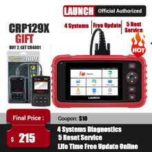 LAUNCH X431 CRP129X OBD2 Scanner OBDII Automotive Auto Code Reader OBD Diagnostic Tool ABS SRS Transmission Engine Oil/EPB/TPMS