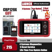 إطلاق X431 CRP129X OBD2 الماسح الضوئي OBDII السيارات السيارات رمز القارئ OBD أداة تشخيص ABS SRS نقل زيت المحرك/EPB/TPMS