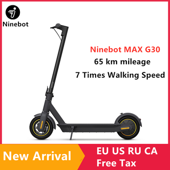 "2019 Original Ninebot MAX G30 Kickscooter Foldable Smart Electric Scooter 10"" 30km/h 65km Range Hoverboard Dual Brake Skateboard"
