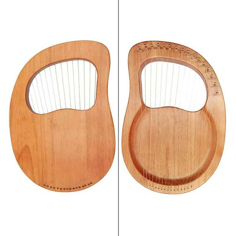 シックスティーンストリングハープ、 16 ストリングピアノピアノ鋼線弦の木製木材ベニヤトップ弦楽器