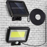 مصباح حائط COB مع مستشعر حركة PIR ، يعمل بالطاقة الشمسية ، مقاوم للماء ، موفر للطاقة ، خارجي ، مثالي للشارع أو الفناء أو المسار أو الحديقة.
