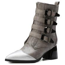 Fanyuan/пикантные полусапожки на шнурках с острым носком молнии