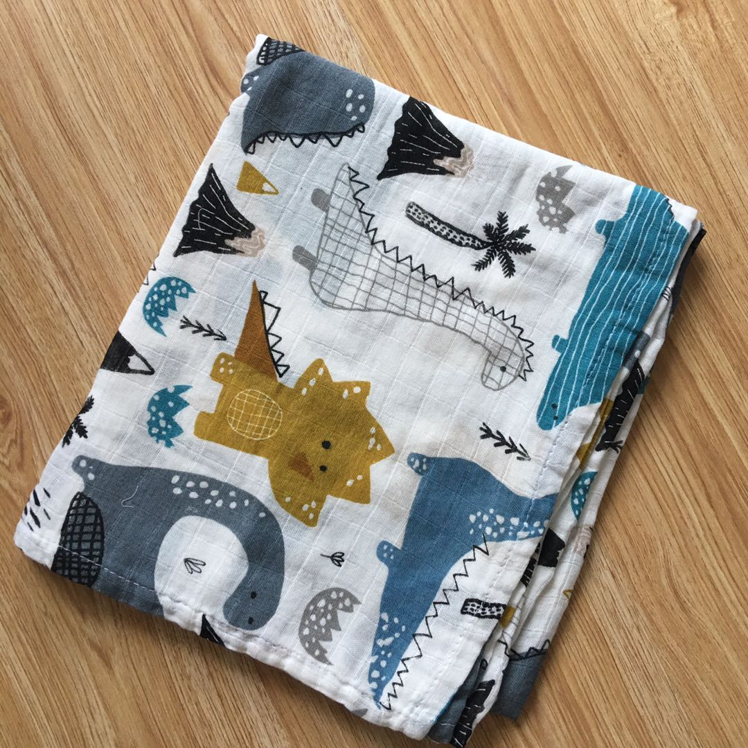 120x110cm Swaddle Baby Muslin Blanket Baby Swaddling Blankets Baby Bedding Muslin Bamboo Cotton Diaper