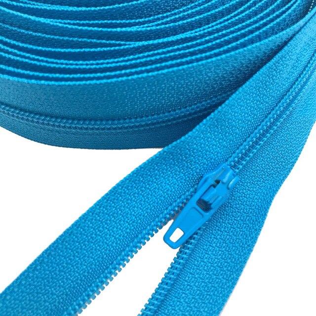 Length 10 cm non-separable Zipper Orange Color Nylon 649