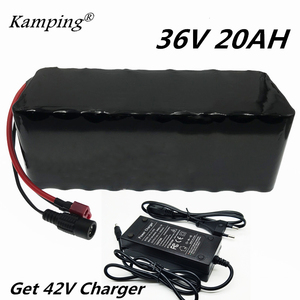 KAM PING 36V 20AH electric bicycle battery built-in 20A BMS lithium battery pack 36 volt 2A charging Ebike battery + charger(China)