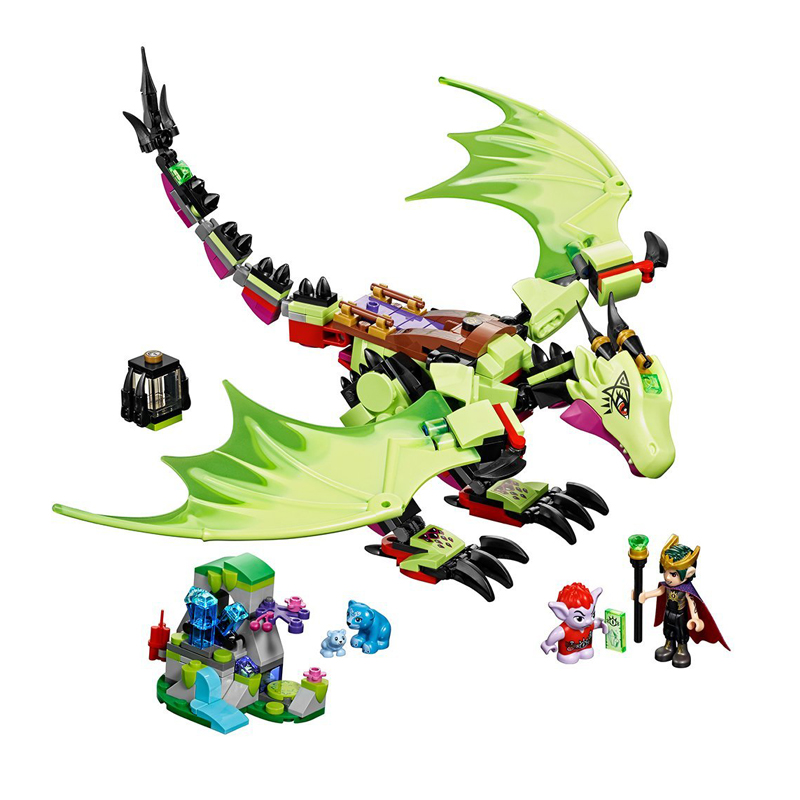 Lepinblocks 10695 Fairy Elves The Goblin King's Evil Dragon Building Blocks Sets Girls gift Toy Fit Lepining Friends 41183 image