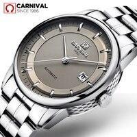 2019 Carnaval MIYOTA Relógio Automático Homens de Aço Inoxidável Strap Mens Relógios Top Marca de Luxo de Cristal de Safira Relógio Mecânico