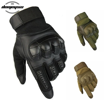 Rękawice taktyczne z ekranem dotykowym wojskowe akcesoria do paintballa w stylu wojskowym pistolety do airsoft Combat Hard Knuckle pełne rękawiczki tanie i dobre opinie demeysis polyster Touch Screen Military Full Finger Gloves Sport Gloves Mittens tan black green military outdoor activity