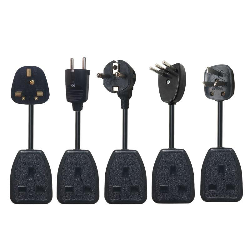 UK standard Male Female Butt plugs Power Extension Cord Plug Socket 13A 250V UK Hongkong Power Cord 0.5/1/1.5/2/3/5Meter