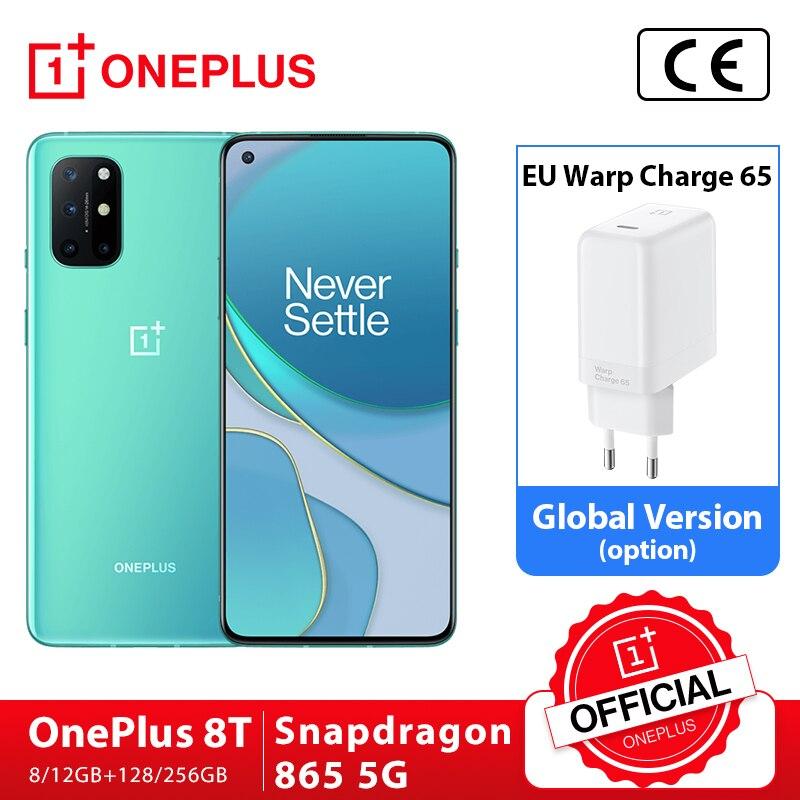 Global Rom OnePlus 8T 8 T 8GB 128GB Snapdragon 865 5G Smartphone 120Hz AMOLED Fluid Screen 48MP Quad Cams 4500mAh 65W Warp|Cellphones| - AliExpress