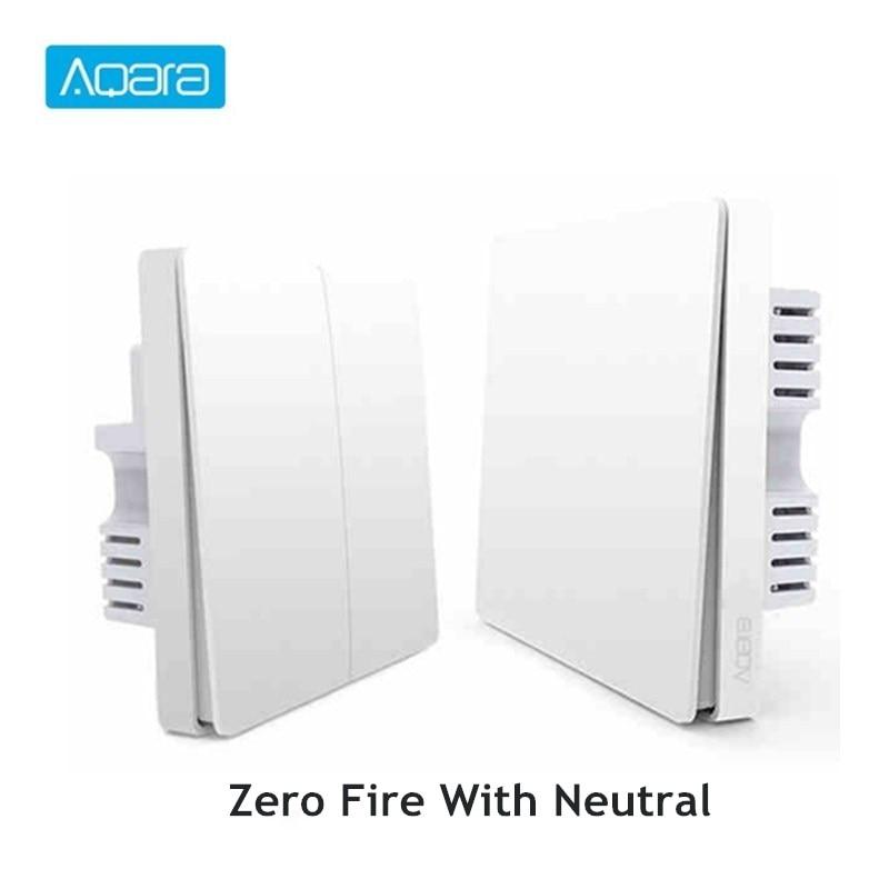 Aqara Smart Light Control Fire Wire And Zero Line Zigbee Light Remote Control Wireless Key Wall Switch With Neutral Mi Home