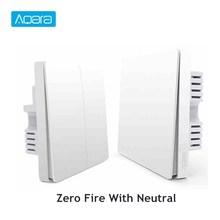 Aqara Smart Light Control Fire Wire And Zero Line Zigbee Remote Wireless Key Wall Switch With Neutral Mi Home