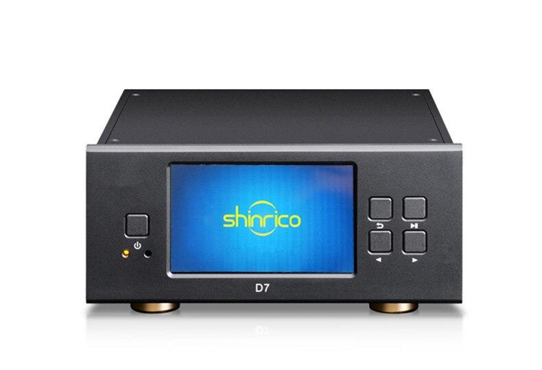 R-005 SHINRICO D7 24bit 192K Digital de salida giratoria Audio Casero Digital SACD/DSD/HIFI sin pérdida reproductor de música AC110V/220 de entrada