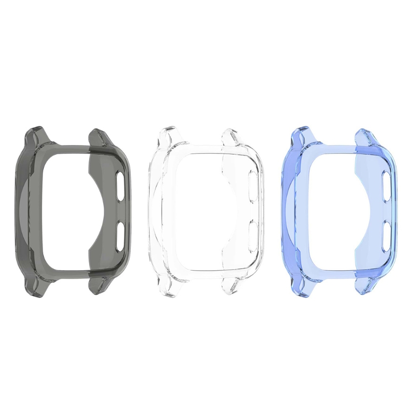 Soft TPU Flexible Screen Protector case For -Garmin Venu SQ Half-pack hollow shell Shockproof Cover Watch Accessories