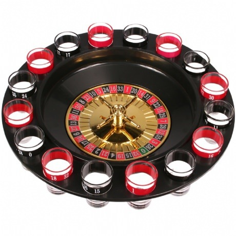 KTV Bar Turntable Drink Roulette Party Game Props Russia Turntable Toy Tass