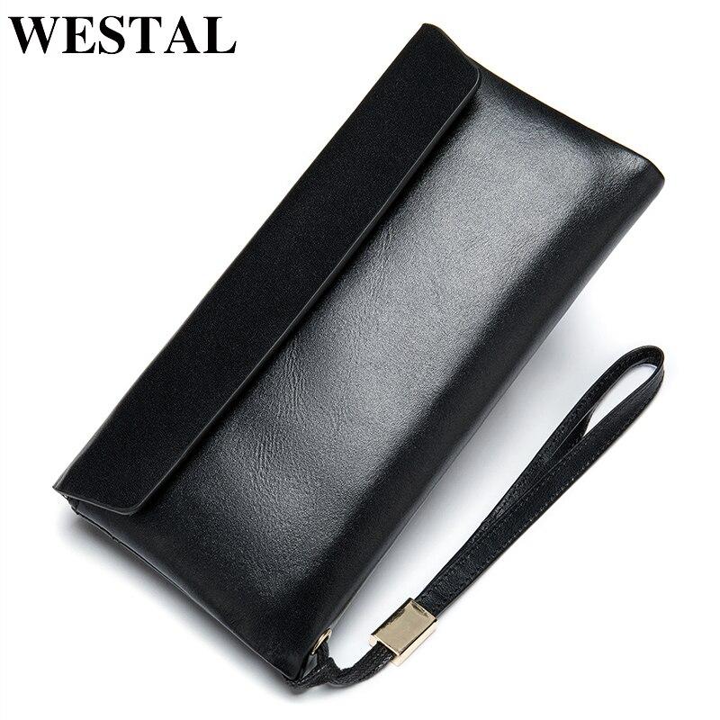 WESTAL Phone-Money-Bag Zipper Wallet Wallet/purse Long Men Clutch Men's for Male Casual