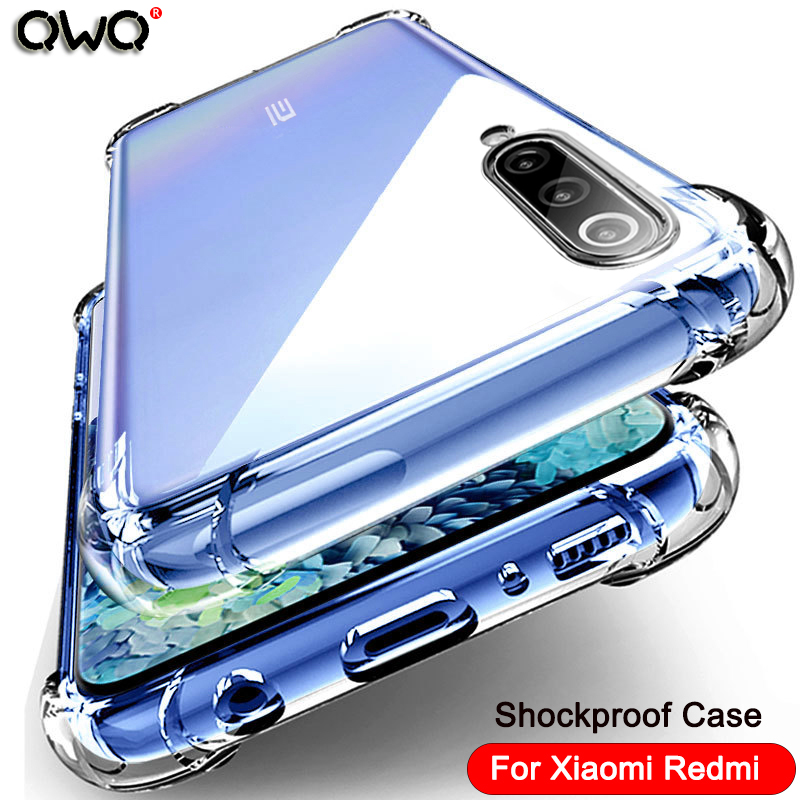 Shockproof Silicone Phone Cases For Xiaomi Redmi Note 10 Pro 9T 8 9 A3 Lite 8 9 Se CC9 CC9E K20 K30 Note 7 8 Pro Cover Bag