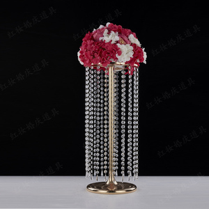 Image 2 - 6pcs/lot  Wedding Ferris wheel crystal ball curtain acrylic beads T road lead main table flower welcoming area decorative