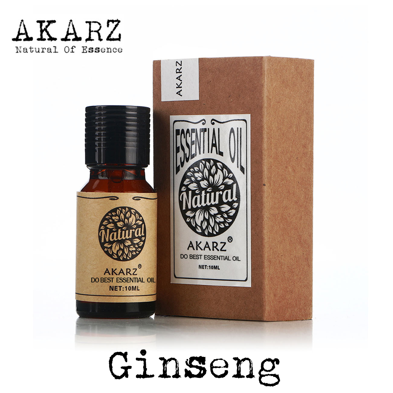 Ginseng essential oil AKARZ Top Brand body face skin care spa message fragrance lamp Aromatherapy Ginseng oil