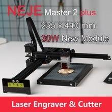 NEJE – Machine de gravure Laser Master 2 Plus, routeur CNC avec tête Laser focalisable 30W, contrôle par application pour le bois et le cuir
