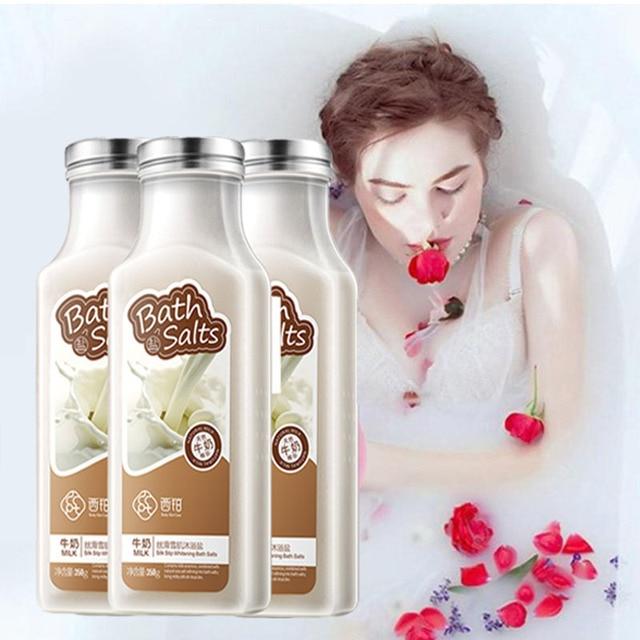 350g Body Bath Milk Essence Bath Salts Natural Bubble Bath Exfoliating Softening Whitening Skin Care 3
