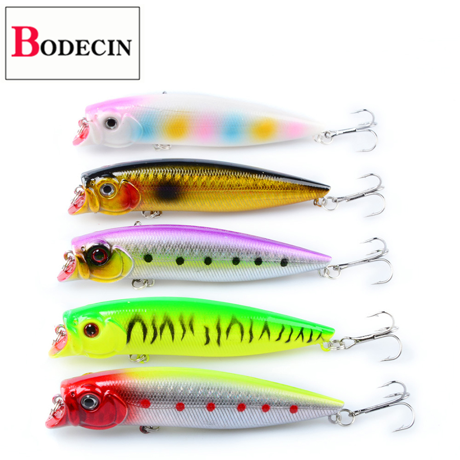 5PCS Wobblers For Pike/Trolling/Fish Float Popper Artificial/Hard/Fake/Bass/Trout/Cap Bait For Fishing Lures/Tackle Sea TopWater