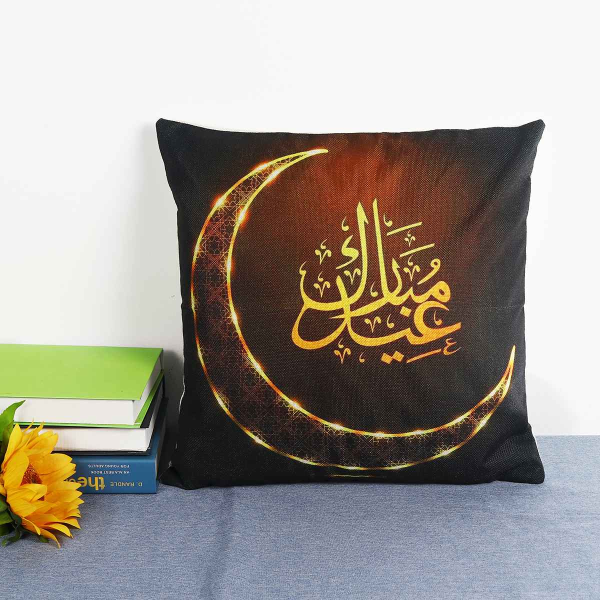 Ramadan Cushion Cover Islam Muslim Masjid Mosque Cushion Covers Eid Ramadan Kareem Moon Art Cushion Cover Decorative Pillow Case
