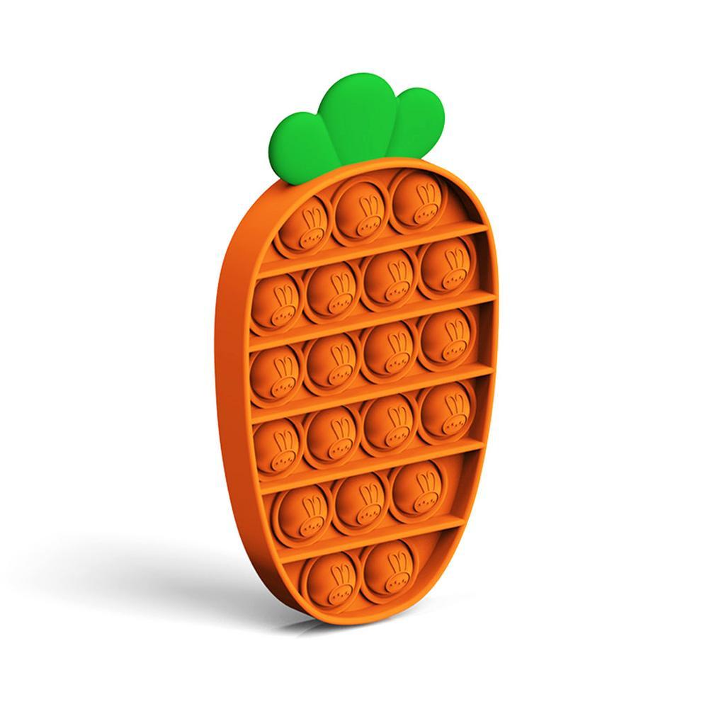 Neue Zappeln Spielzeug Karotte Anti-Stress-Spielzeug Für Erwachsene Kinder Push-Pop Blase Zappeln Sensorischen Spielzeug Autismus Bedürfnisse Stressabbau