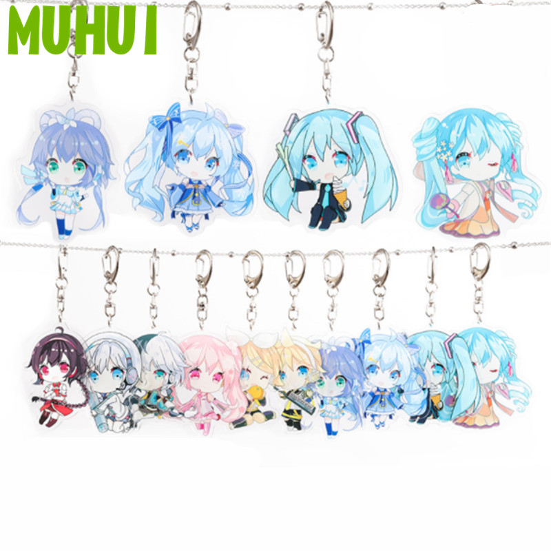 Vocaloid Hatsune Miku Cosplay Keyring Bag Doll Key Chain Fan Gift Silicone 1pc