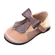 Девочки принцесса обувь для малышей младенцев Дети ребенок бант тонкие сандалии обувь