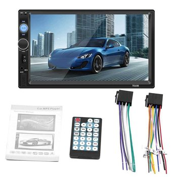 7010B 7 Inch DOUBLE 2DIN Car MP5 Player BT Touch Screen Stereo Radio HD Multimedia Player Support Same Screen 4 Light Camera image