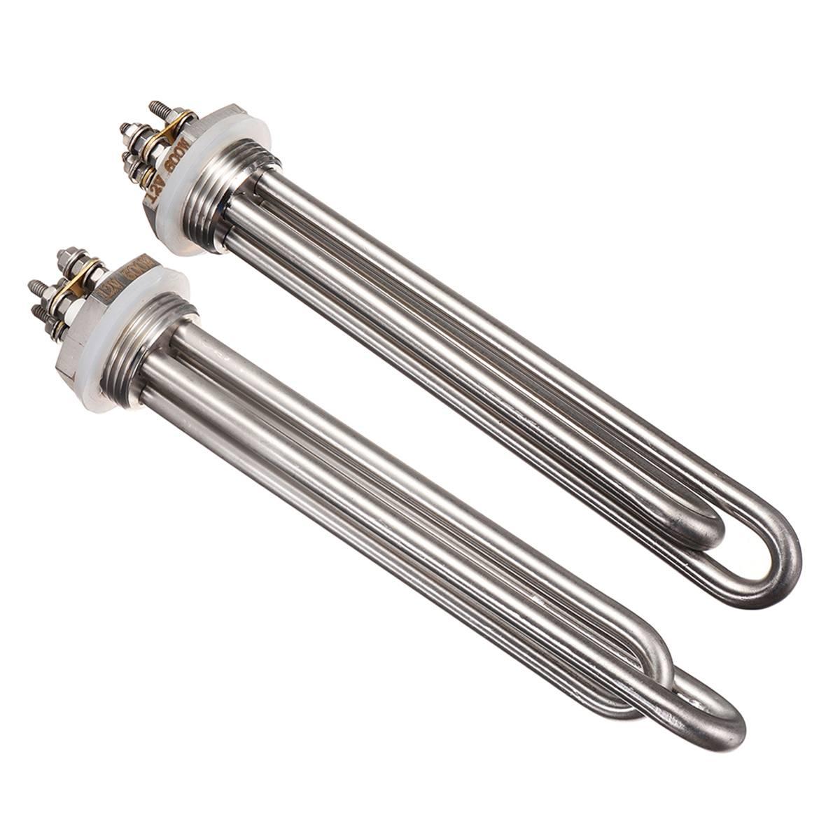 12 В 600 Вт Электрический нагреватель из нержавеющей стали нагревательный элемент 1 дюйм датчик обнаружения утечки воды погружной нагревател...