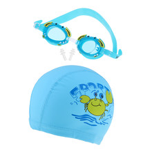 Kids Swim Goggles Swimming Glasses Cap Hat for Boys Girl with Hardcase Anti Fog Lenses and Earplugs(China)